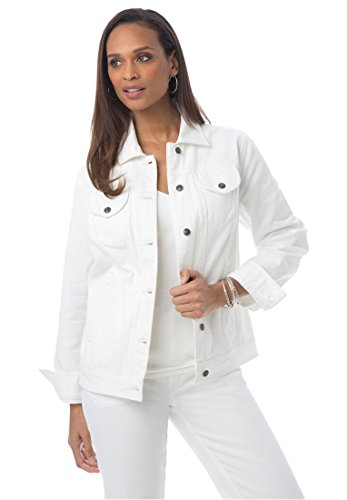 womens white denim jean jacket - Jean Yu Beauty