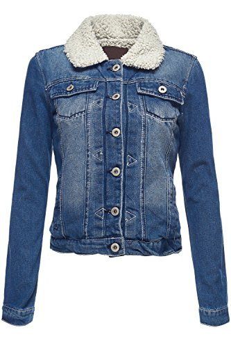 4352769aa4289 Warm Thicken Lapel Fur Collar and Lined Denim Jackets (E4J8)